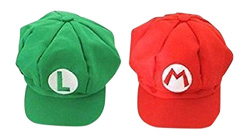 Luckystone Super Role Play Bros Hat, Mario Luigi Cap Cosplay (Mario And Luigi Costumes Kids)