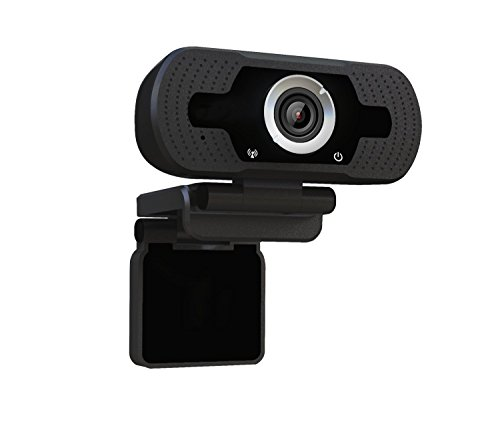Dericam 1080P Full HD Live Streaming Webcam, USB Desktop and Laptop Webcam, Mini Plug and Play Video Calling Computer Camera, Built-in Mic, Flexible Rotatable Clip, W2, US, Black by Dericam