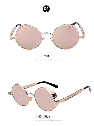 Round Metal Sunglasses Steampunk Men Women Fashion Glasses Vintage Sunglasses - Scratch Oakley Sunglasses Repair