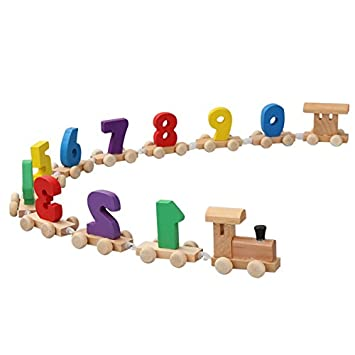 Lulalula Wooden Train Numbers Toy Childrens Early Childhood