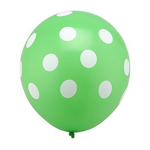 Sopeace 100pcs 12inch Latex Inflatable Balloons Polka Dot Colored Wedding Birthday Party Balloons Decoration Globos Air Balls Baloons (Lime Green)]()