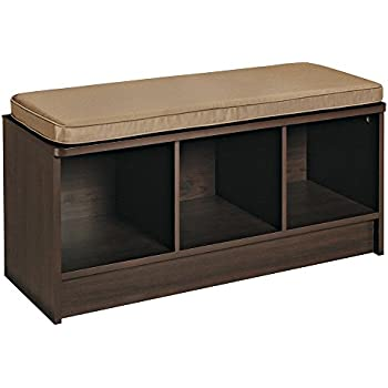 Amazon Com Winsome Verona Storage Bench Walnut With