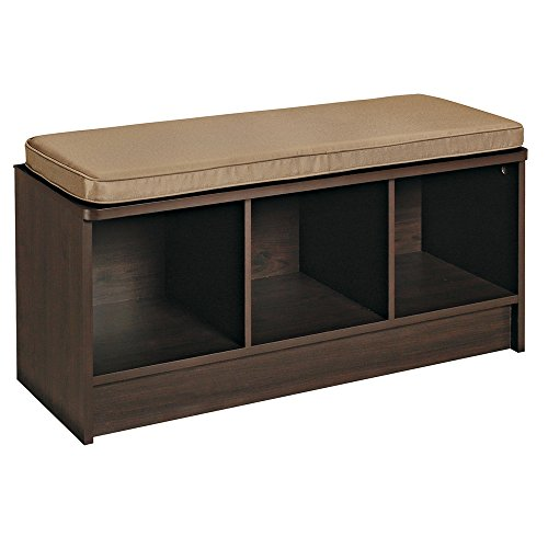 ClosetMaid 1570 Cubeicals 3-Cube Storage Bench, Espresso (Bench With Storage Drawers compare prices)