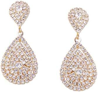 Wedding Earrings Gold Plating Teardrop Dangle Earrings