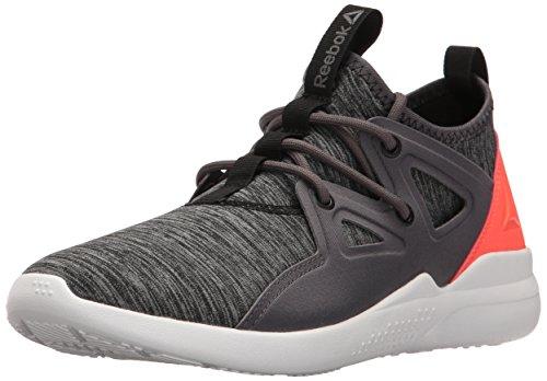 Reebok Women's UPURTEMPO 1.0 Dance Shoe, Ash Grey/Vitamin C/Black/White, 9 M US