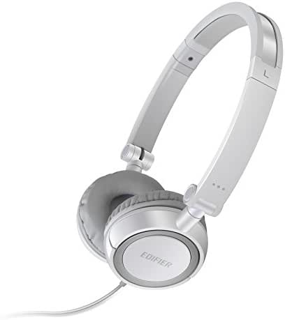 Edifier H650 Headphones - Hi-Fi On-Ear Foldable Noise-Isolating Stereo Headphone, Ultralight and Tri-fold Portable - White