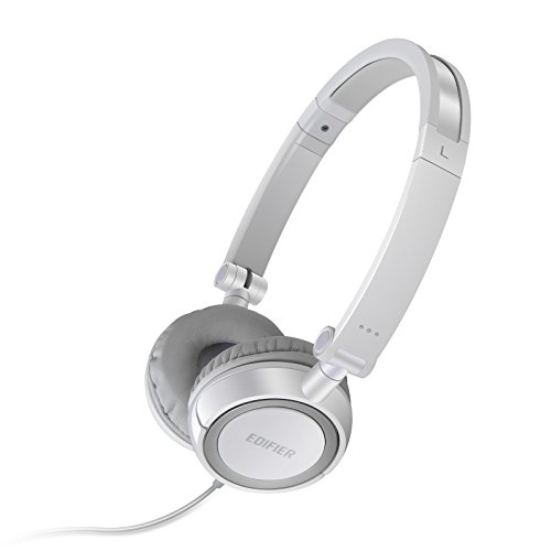 Edifier H650 Headphones - Hi-Fi On-Ear Foldable Noise-Isolating Stereo Headphone, Ultralight and Tri-fold Portable - White -