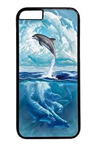 iPhone 6 Case,Dolphin Sky PC case Cover for iPhone 6 4.7inch Black