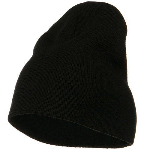 Big Size Superior Cotton Short Knit Beanie-Black (for Big Head)