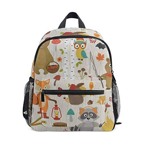 Mini Backpack Animal Forest Fox Bear Brich Tree School Bag Daypack Lightweight (Brich Trees)
