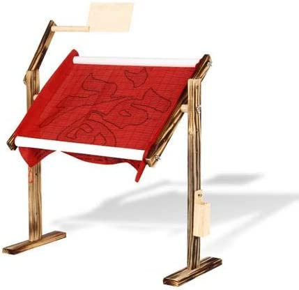 Needlework Table and Lap Hands-Free Stand with Adjustable Frame L-45cm, W-21cm, H-47cm Cross Stitch Embroidery Frame Holder
