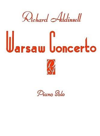 Warsaw Concerto ~ Piano Solo Antiquarische Noten/songbooks Richard Addinsell