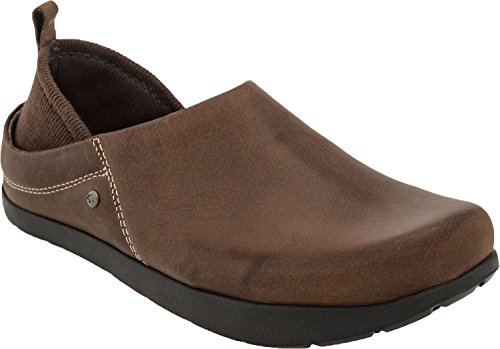 Bridle Brown Footwear - Kalso Earth Shoe Women's Harvest Slip On Clog,Bridle Brown Leather,US 8 M