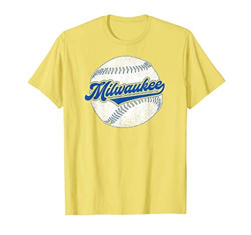 - Milwaukee Baseball | Vintage Brewer Baseball Retro Gift T-Shirt
