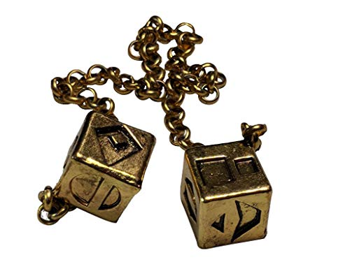 Custom 3D Stuff Antiqued Weathered Metal Han Solo Smuggler's Dice - Charm Truck Plated Gold