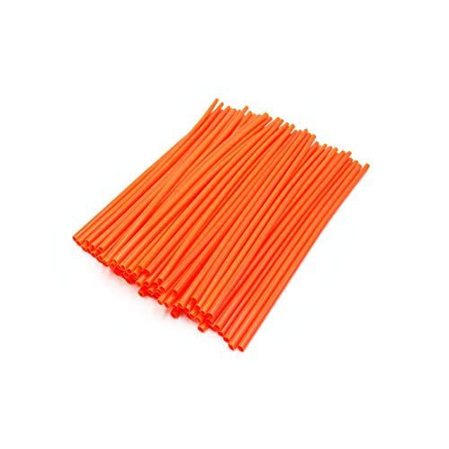 Wheels Motorcycle Spoke Wire (uxcell 72pcs 23.5cm Length Motorcycle Wheel Steel Wire Spoke Reflective Clip Tube Orange)