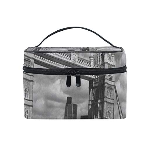 4a59b802ab21 Makeup Bag Retro London Tower Bridge Uk Flag Union Jack Cosmetic Bag  Portable Large Toiletry Bag for Women/Girls Travel