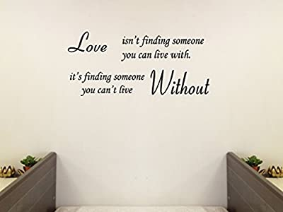 Love Without Quote WALL STICKER PAPER QUOTE DECAL ART Décor