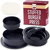 Non Stick Hamburger Press Maker + 40 Free Wax Paper Discs - Easy