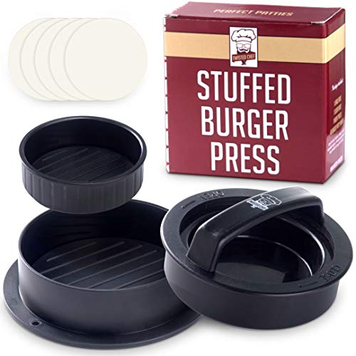 Buy Cheap Non Stick Burger Press Patty Maker + 40 Wax Paper Discs, Easy to Use, Dishwasher Safe, Wor...