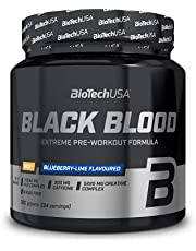 BioTechUSA Black Blood NOX+, Radical pre-workout formula with an extreme NOX complex, 150 mg caffeine, as well as creatine and tyrosine for hardcore needs, 330 g