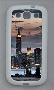 Brightly-lit Empire State Building TPU Silicone Rubber Case Cover for Samsung Galaxy S3 SIII I9300 White