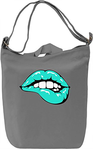 Sexy Mint Lips Borsa Giornaliera Canvas Canvas Day Bag| 100% Premium Cotton Canvas| DTG Printing|