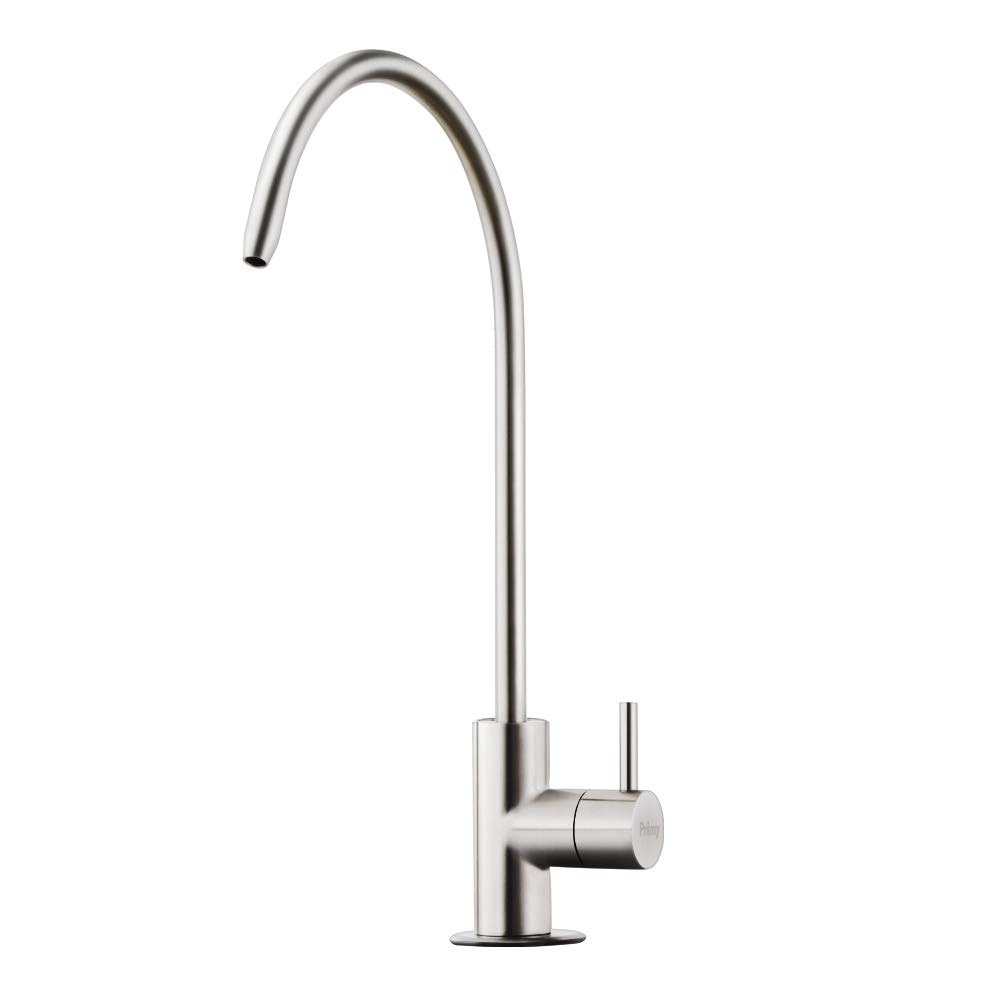 Primy Stainless Drinking Water Filter Faucet with Single Handle for Water Filtration Systems and Reverse Osmosis Systems - Spot Resist Stainless Steel - Contemporary Style High-Spout