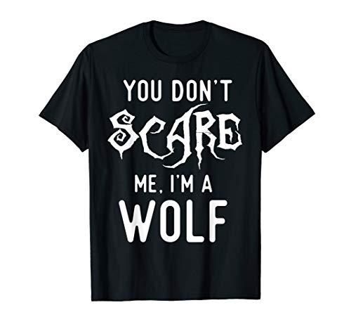 Funny Wolf Shirts Halloween Costume Joke Gag Wolfpack Gifts.
