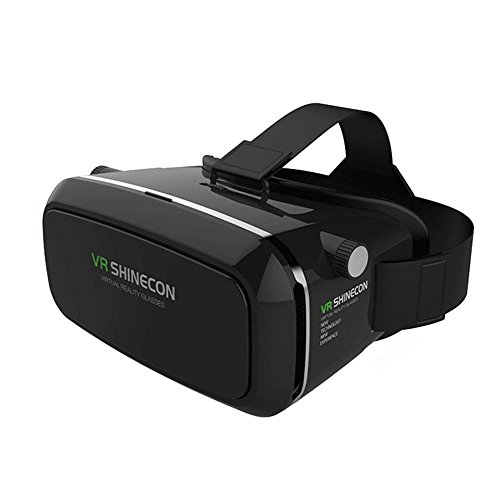 VR Headset, ZNYSMART VR SHINECON 3D Virtual Reality Goggles Gear Glasses Box For iPhone 7 6 6S Plus 5 5S SE Samsung S7 Edge Google Sony LG Huawei Playstation PS5 PS4 PS3