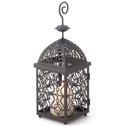 Gifts & Decor Moroccan Birdcage Iron Candle Holder Hanging Lantern (Lantern Square Hanging)
