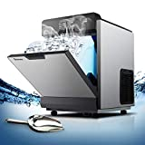 Ice Machine, Commercial Ice Maker Machine Countertop, Auto Clean, Portable and Automatic, for Restaurant, Bar, Cafe and Home, 121lbs/24h