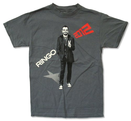 Live Nation Adult Ringo Starr  All Starr Tour 2012  Grey T Shirt  2X Large