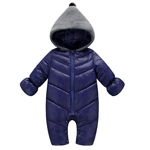 Inverno Felpa scuro Blu cappuccio Ahatech pagliaccetti Caldo Rompers Autunno Boys Bebe Baby con Girl pYwUw6q