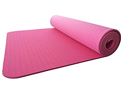 "Gobuy 1/4"" Thick TPE Lightweight Extra Long Anti-Slip Yoga Mat For Pilates, Exercise, and Meditation(6mm)"