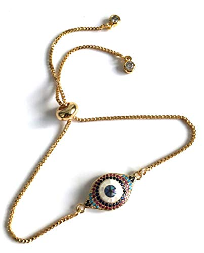 Evil Eye Adjustable Bracelet for Women Lucky Charms Jewelry
