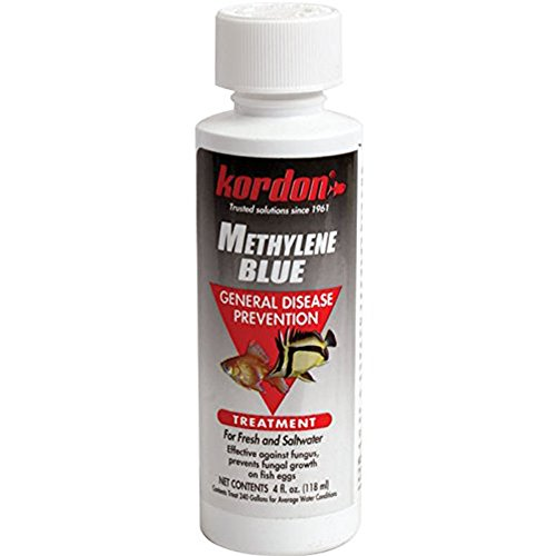 KORDON Methylene Blue-General Disease Prevention Treatment for Aquarium, 4-Ounce,