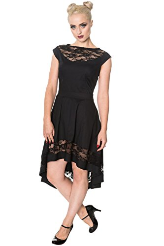 Valley Verbotene Gothic Dress Lace Alternative Hidden Schwarz BqvI8Sq