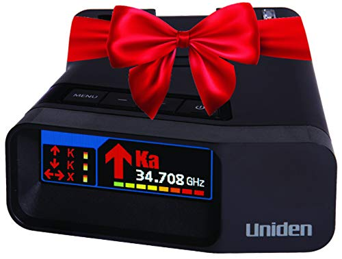 Uniden R7 Extreme Long Range Laser/Radar Detector, Built-In GPS W/ Real-Time Alerts, Dual-Antennas Front & Rear W/Directional Arrows, Voice Alerts, Red Light Camera, Speed Camera Alerts, OLED Display