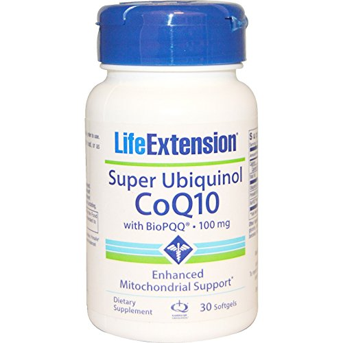 Life Extension, Super Ubiquinol CoQ10, with BioPQQ, 100 mg, 30 Softgels - 3PC by Leo