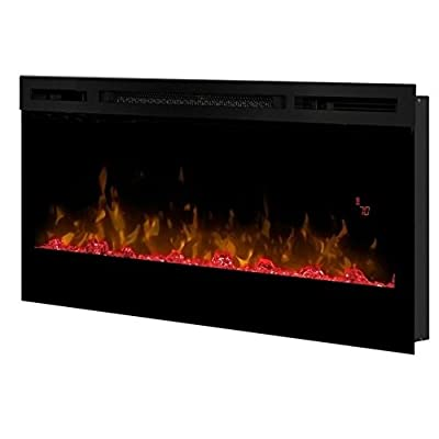 """Bowery Hill 34"""" Wall Mount Linear Electric Fireplace Insert in Black"""