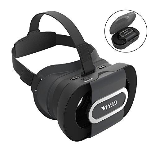 BLOVR Foldable Portable 3D VR Glasses, Adjustable Virtual Reality VR Headset for 4.5 - 6 Inch Screen Smart Phone - Black