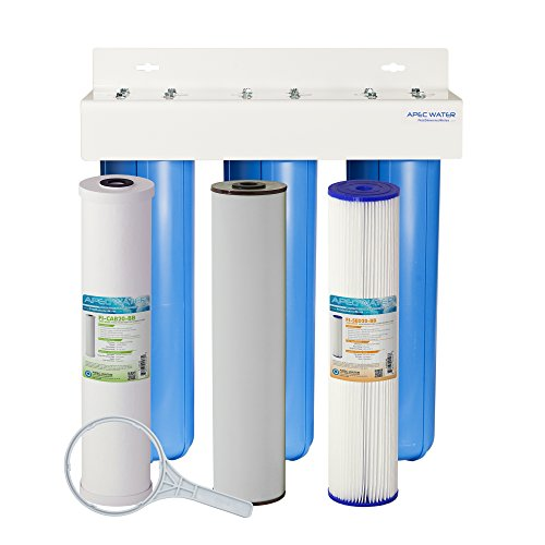 APEC 3-Stage Whole House Water Filter System with Iron, Sediment and Chlorine Filters (CB3-SED-IRON-CAB20-BB) by APEC Water Systems