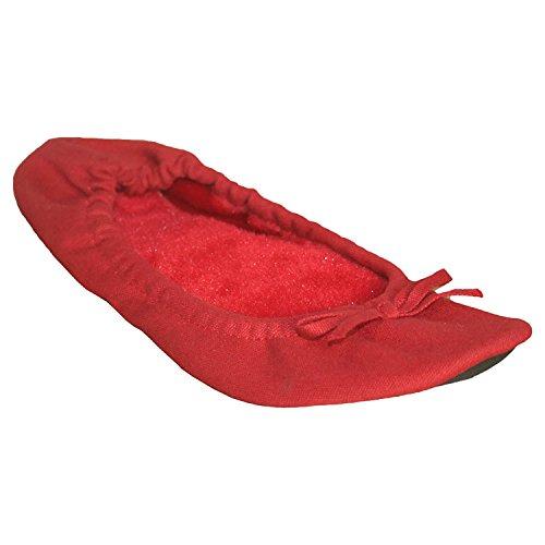 Dawgs Fleece (DAWGS Women's Fleece Ballet Flat, Red, 10 M US)