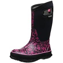 Bogs Classic High Skulls Waterproof Boot (Toddler/Little Kid/Big Kid),Black Multi,5 M US Big Kid
