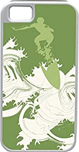 iPhone 4 4S Cases Customized Gifts Cover Abstract artistic man surfing in green ocean Design hjbrhga1544