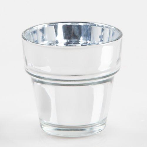 Eastland Mirrored Flower Pot Glass Votive Holder 2.5'' Set of 72 by Eastland
