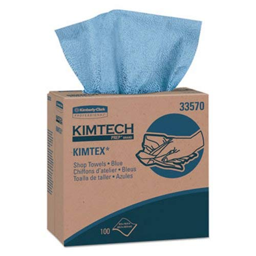 (Kimtex Wipers, Pop-Up Box, 8 4/5 X 16 4/5, Blue, 100/box, 5/carton)
