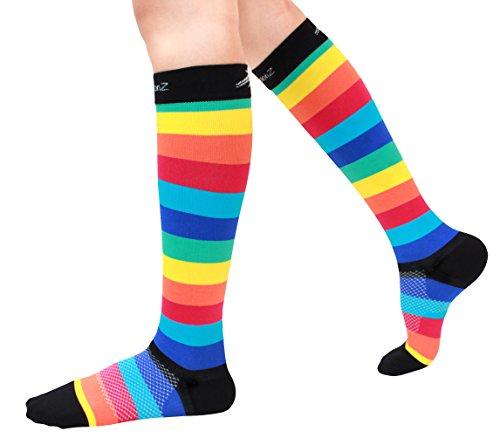 Morning exercise and rainbow socks