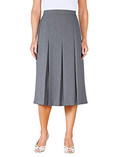 Chums Inverted Pleat Skirt 27 inches Grey US 12/UK (Inverted Pleat Skirt)